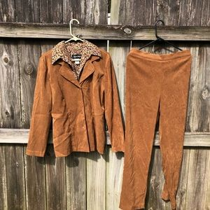 Brown Suede Suit